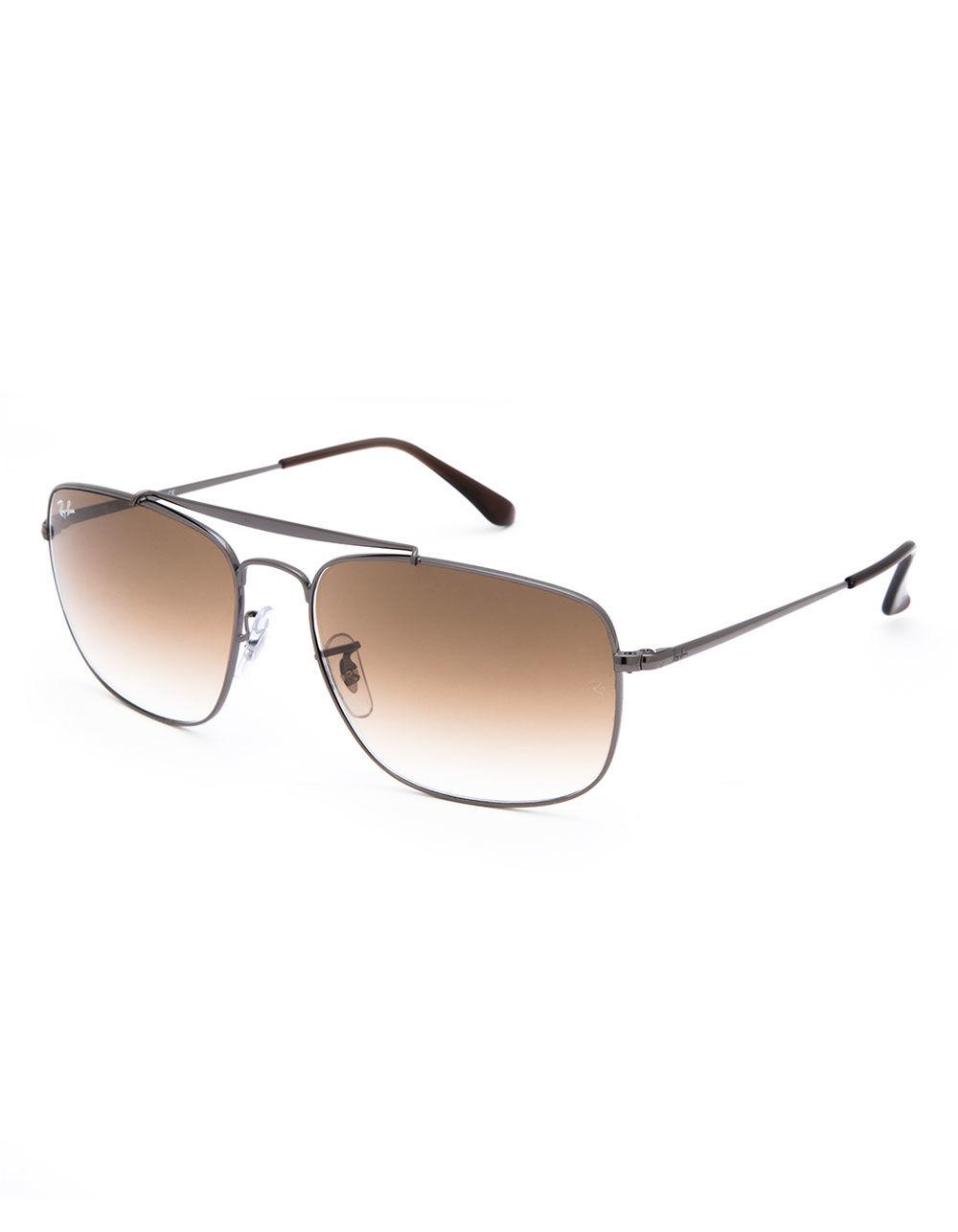bfb857492ba Lyst - Ray-Ban Colonel Gunmetal   Light Brown Gradient Sunglasses in ...