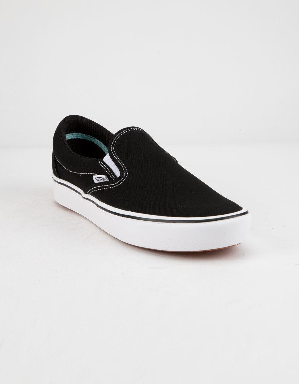 27e0b49f559 Lyst - Vans Comfycush Classic Slip-on Black   True White Shoes in Black