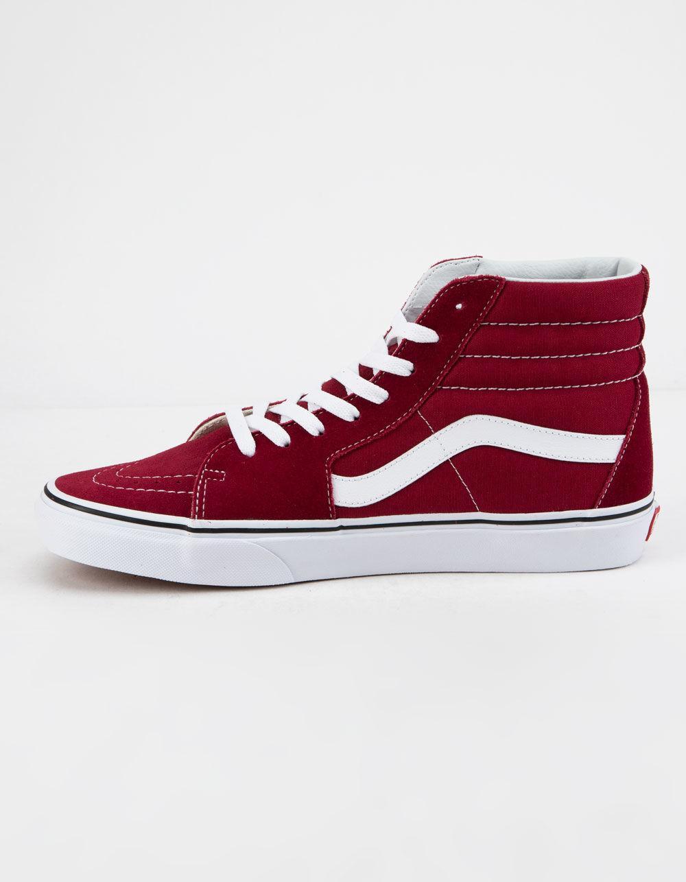a757cda0018 Vans - Sk8-hi Rumba Red   True White Shoes - Lyst. View fullscreen
