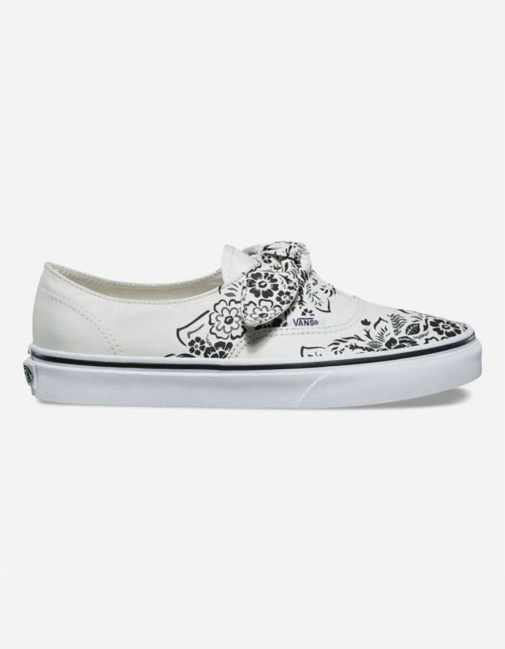 8f92a060b1 Vans - Multicolor Authentic Floral Bandana Knotted Marshmallow Womens Shoes  - Lyst. View fullscreen