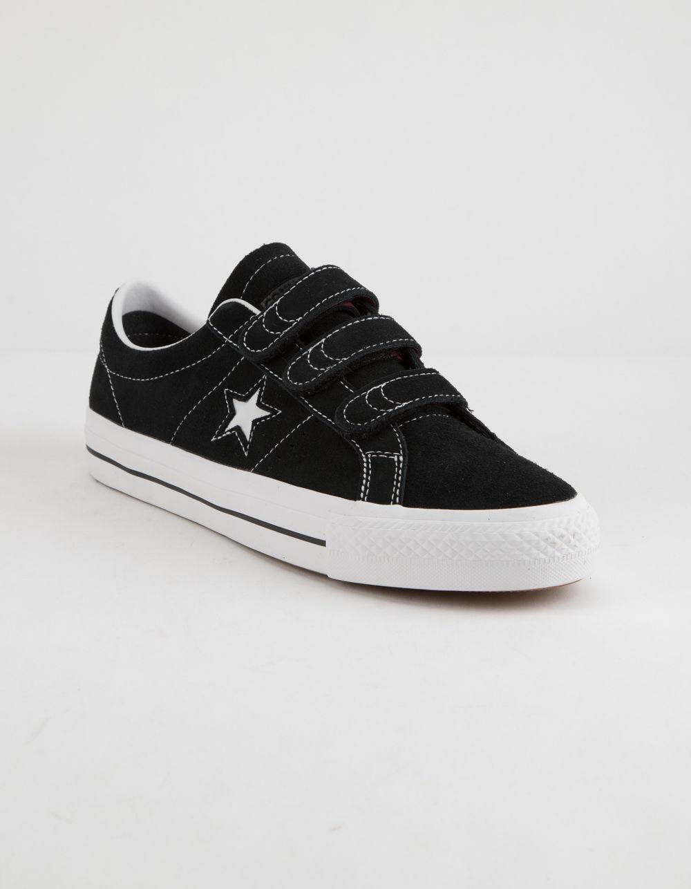 Lyst - Converse One Star Pro 3v Ox Black   White Shoes in Black for Men e35fa96da