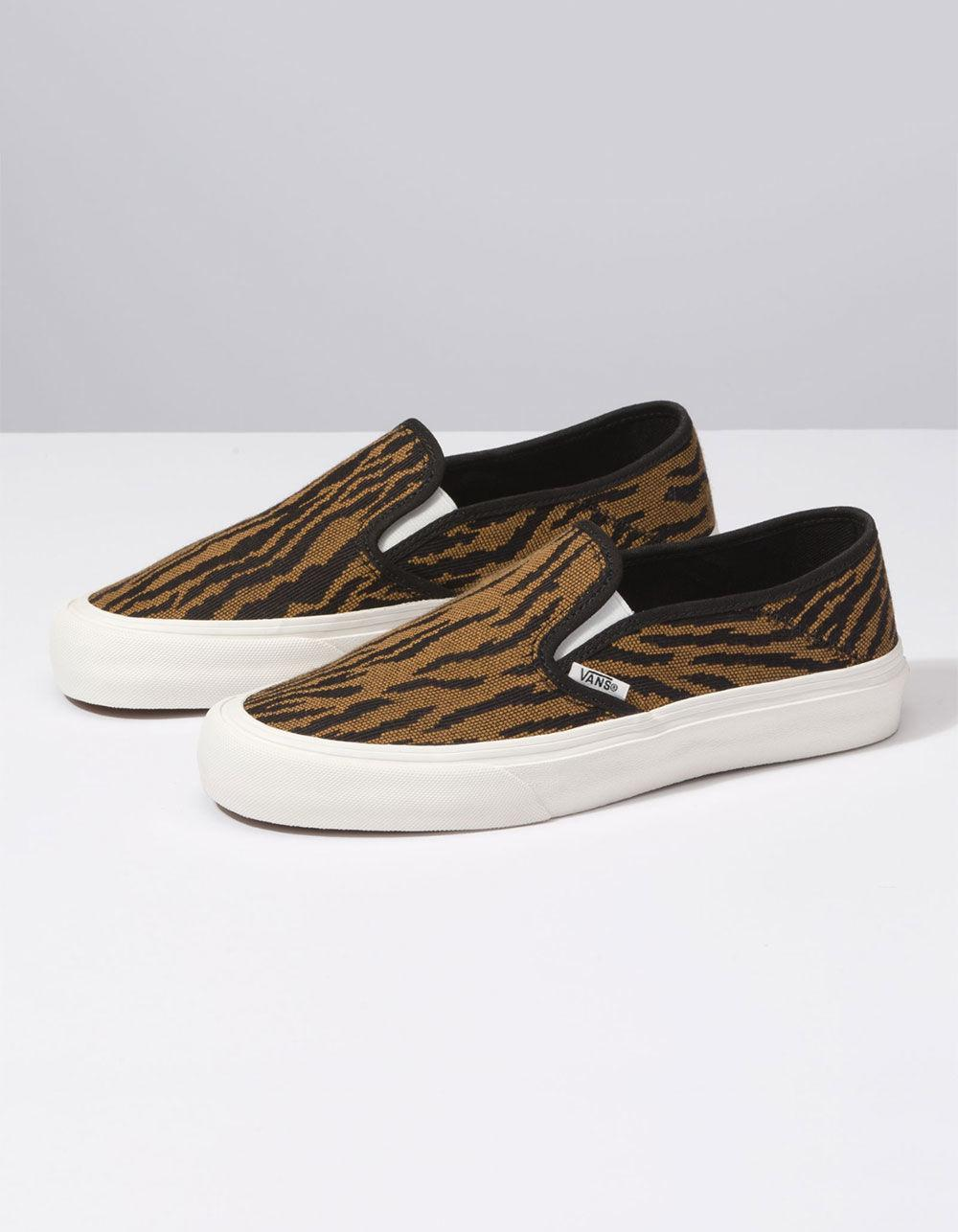 75f7560632bf Lyst - Vans Woven Tiger Slip-on Sf Womens Shoes in Black