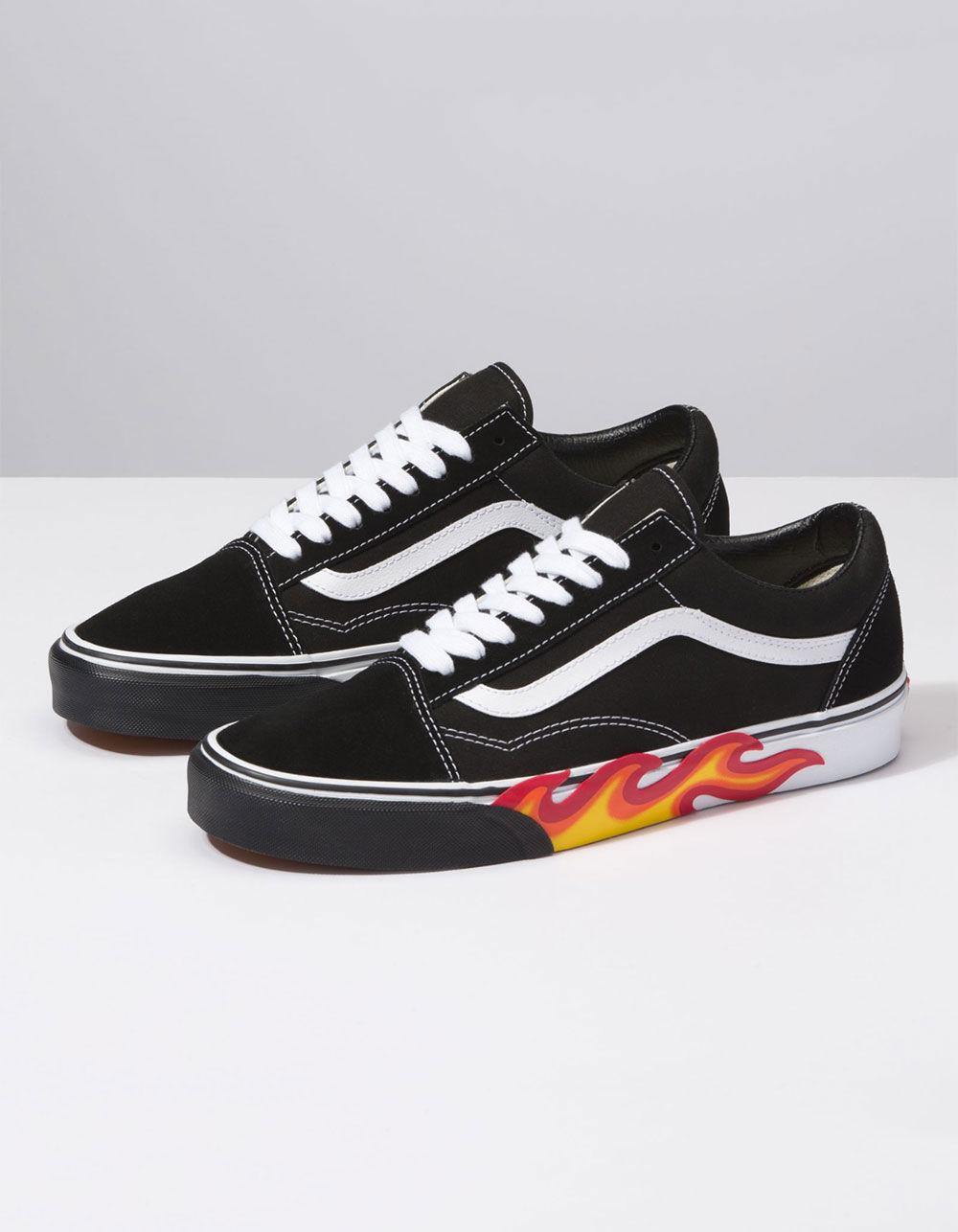 Vans In Shoes Lyst Men Cut Out Flame Old Black Skool For OaqBZTwq