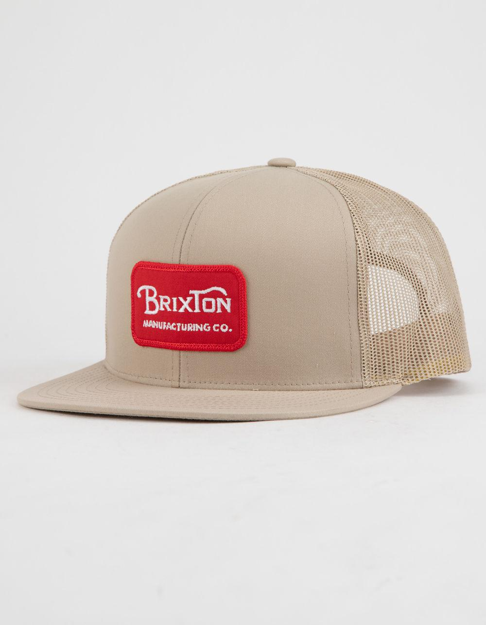 aa4f014a9e6 Lyst - Brixton Grade Mesh Mens Trucker Hat in Red for Men