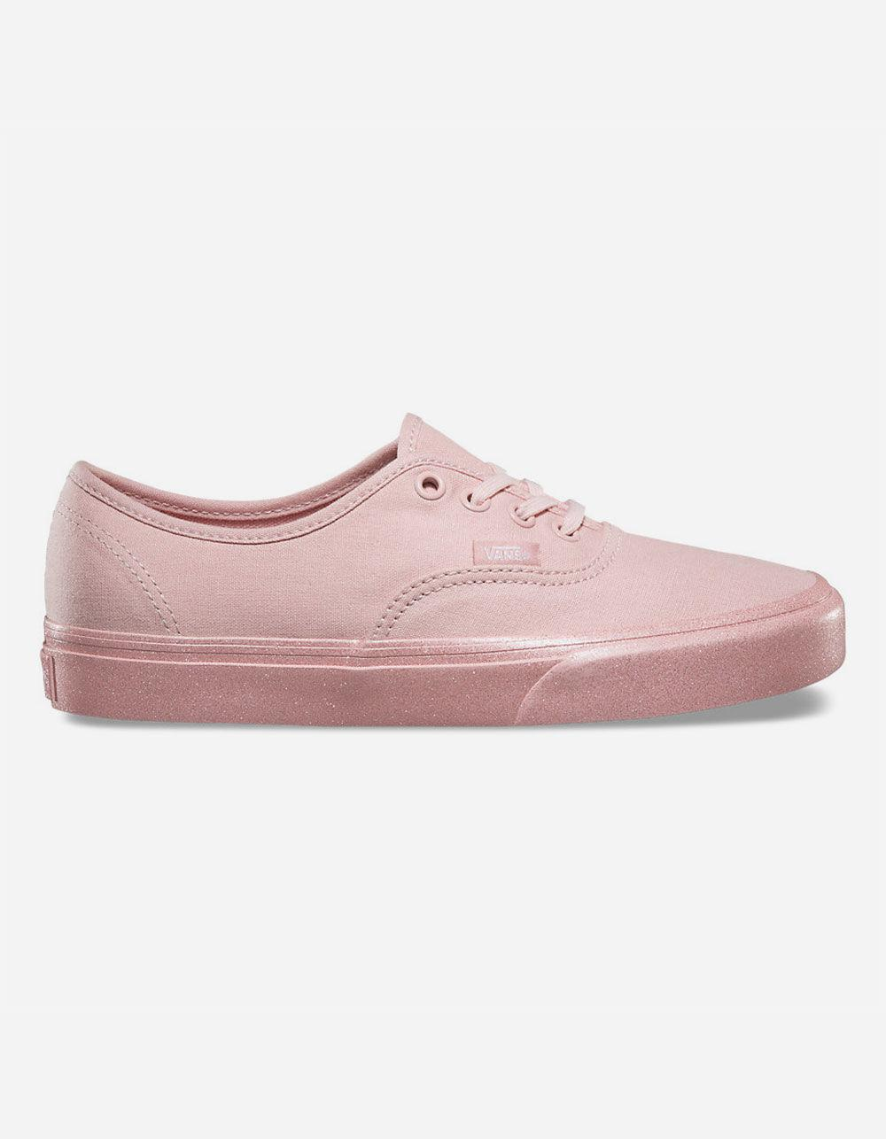 40adbb274ab3 Lyst - Vans Metallic Glitter Authentic Womens Shoes in Pink