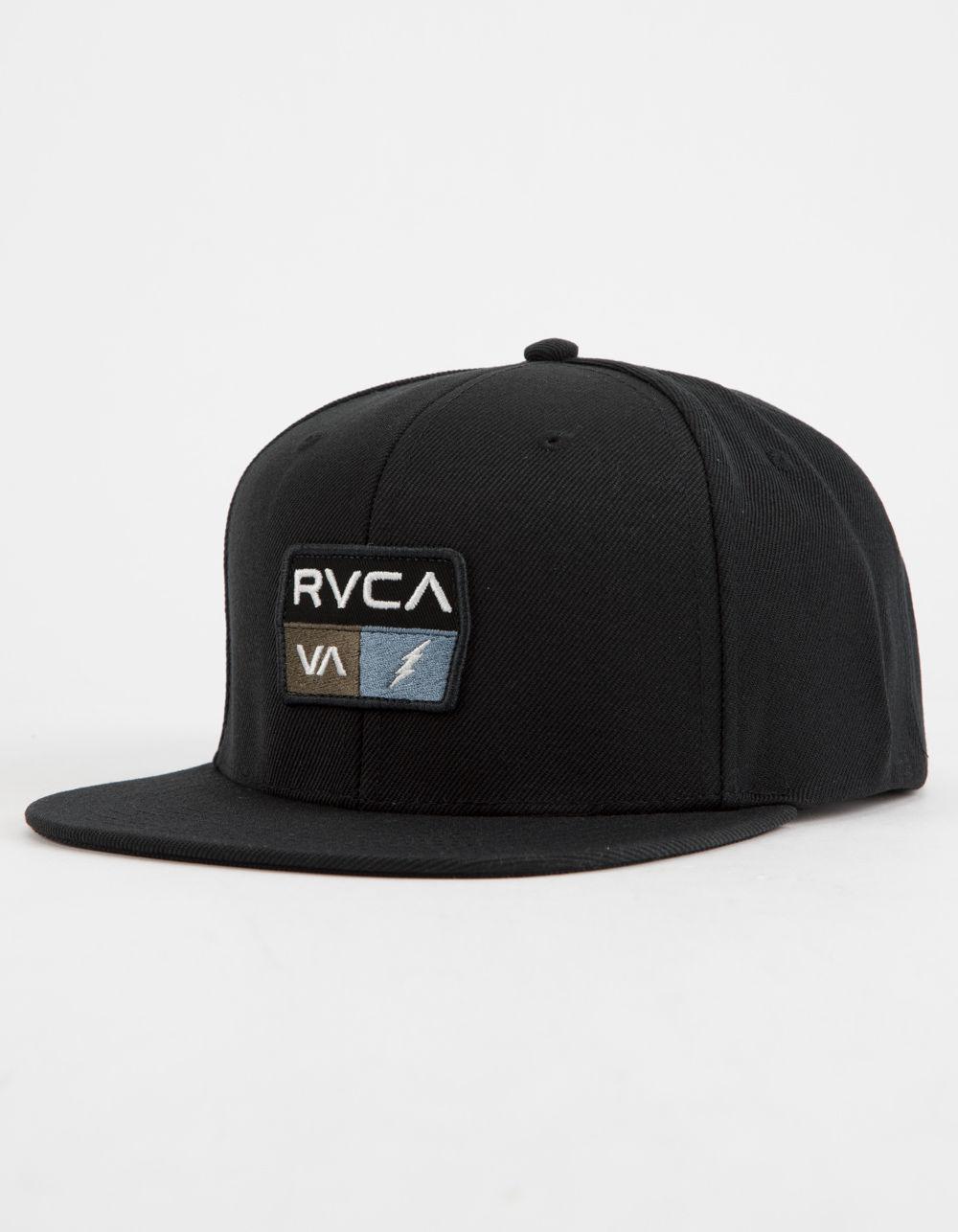 new style 42a01 8a35f RVCA - 9volt Black Mens Snapback Hat for Men - Lyst. View fullscreen