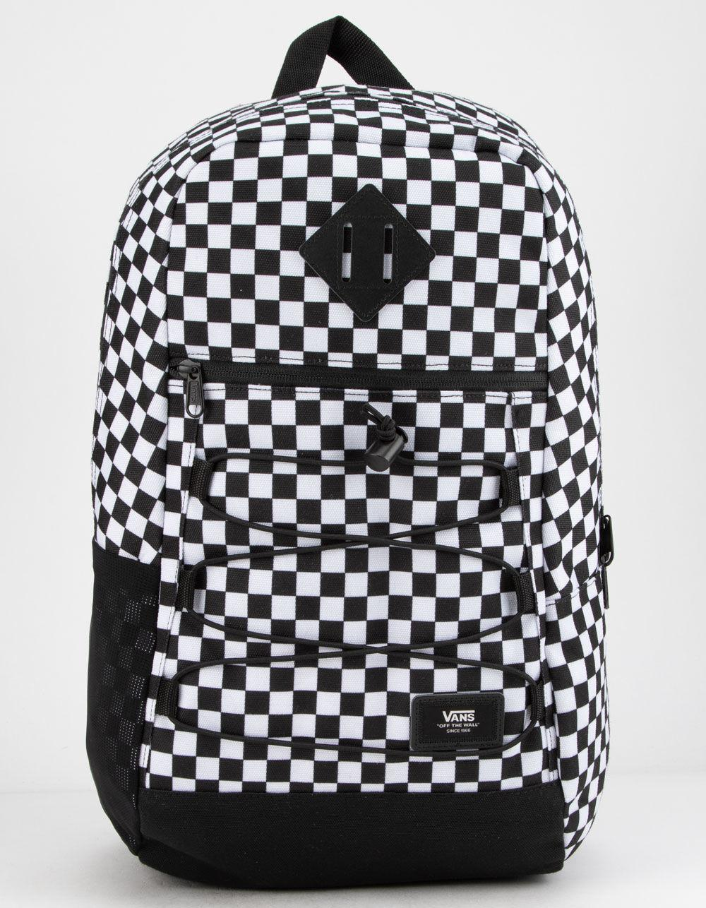 d36dab76823 Lyst - Vans Snag Backpack (black white Check) Backpack Bags in Black ...
