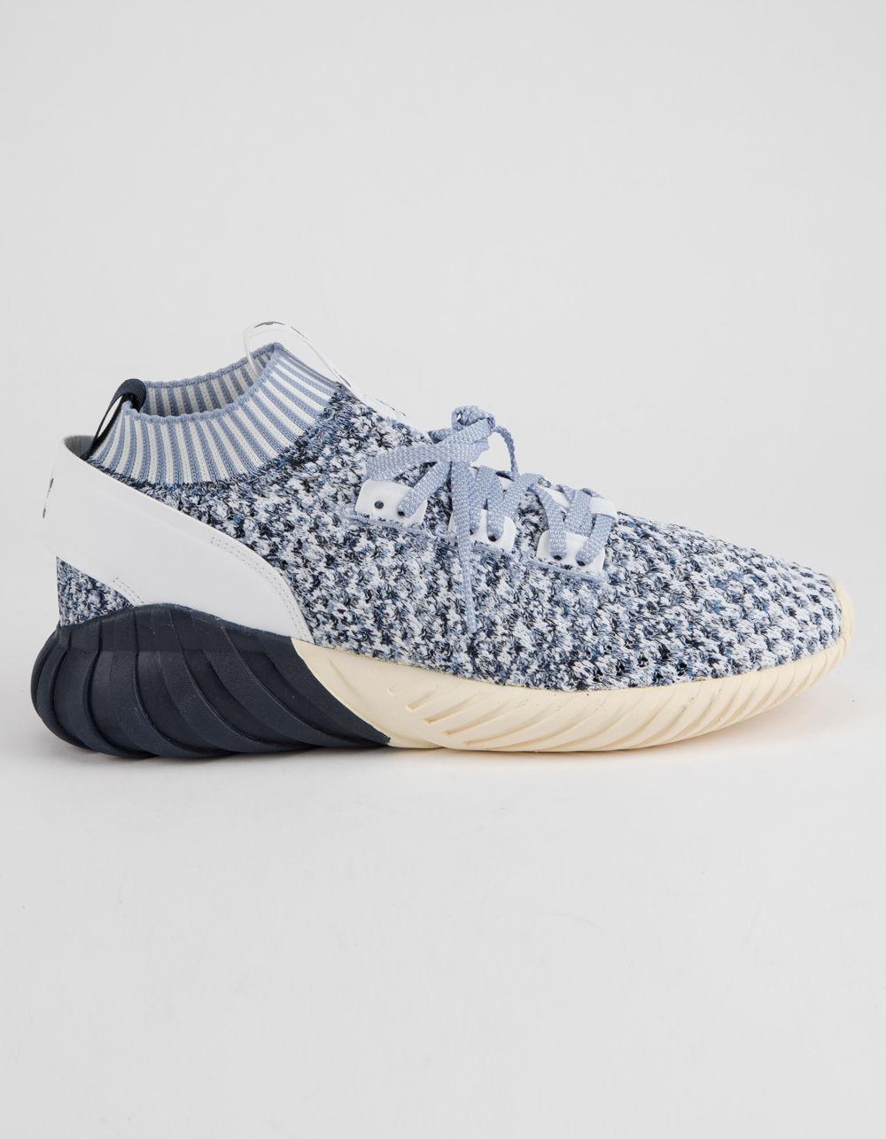lyst adidas tubulare doom sock primeknit mens scarpe in blu