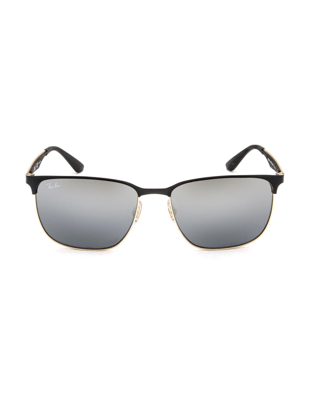 8e412140c3 Lyst - Ray-Ban Clubmaster Sunglasses in Metallic for Men