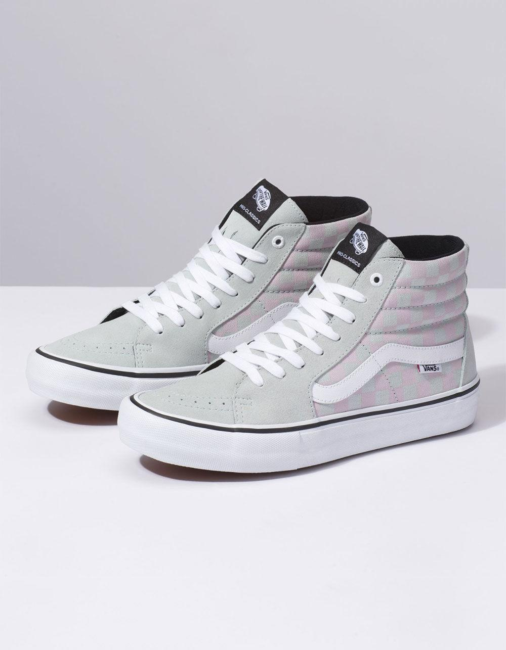 eec6d30d62 Lyst - Vans Checkerboard Sk8-hi Pro Smoke   Violet Ice Shoes for Men