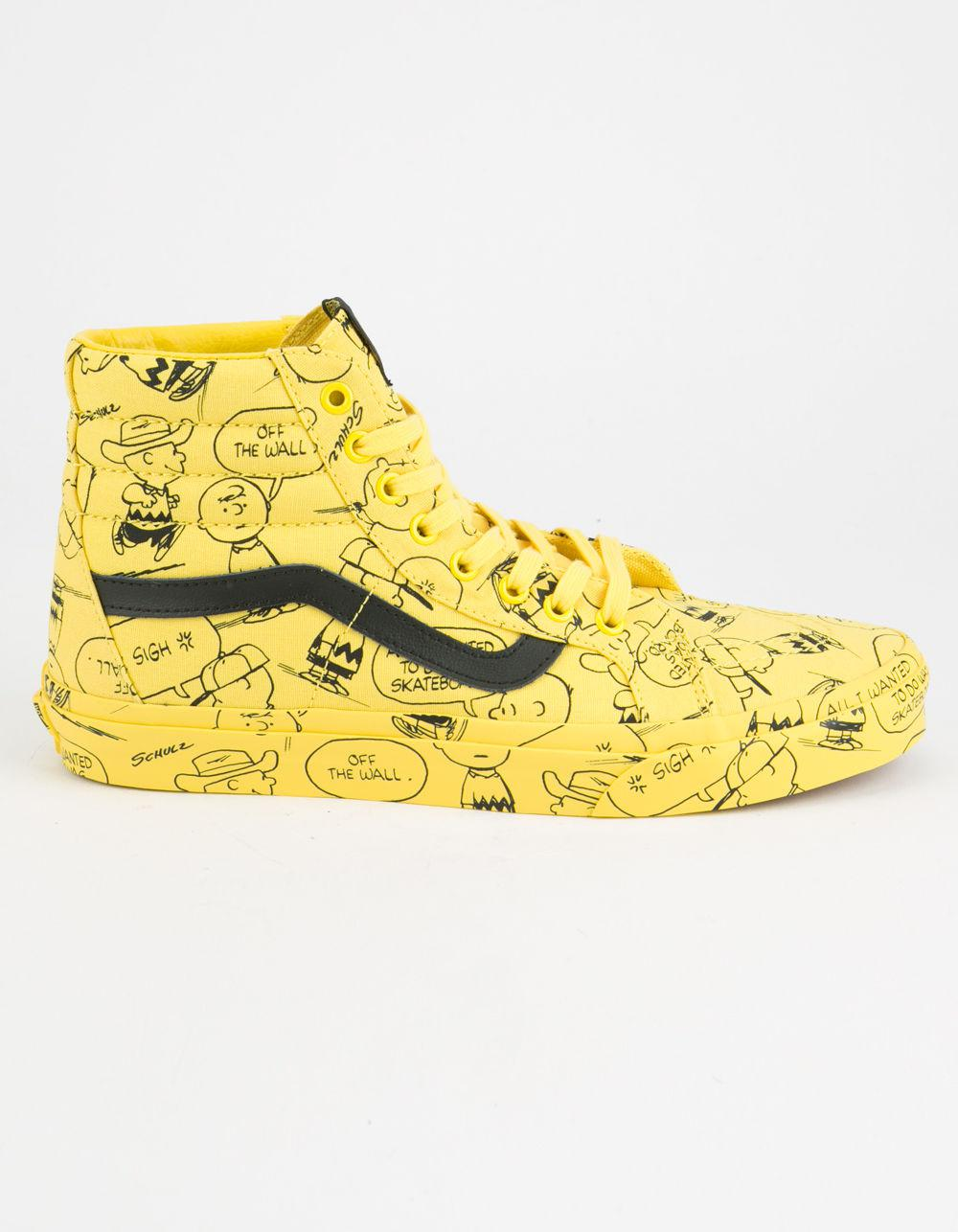 ad88cdd0380 Lyst - Vans X Peanuts Charlie Brown Sk8-hi Reissue Shoes in Yellow