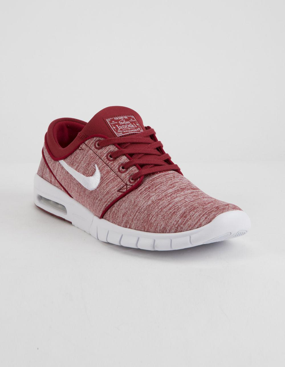 091334a920 Nike Stefan Janoski Max Red Crush & White Shoes in Red - Lyst