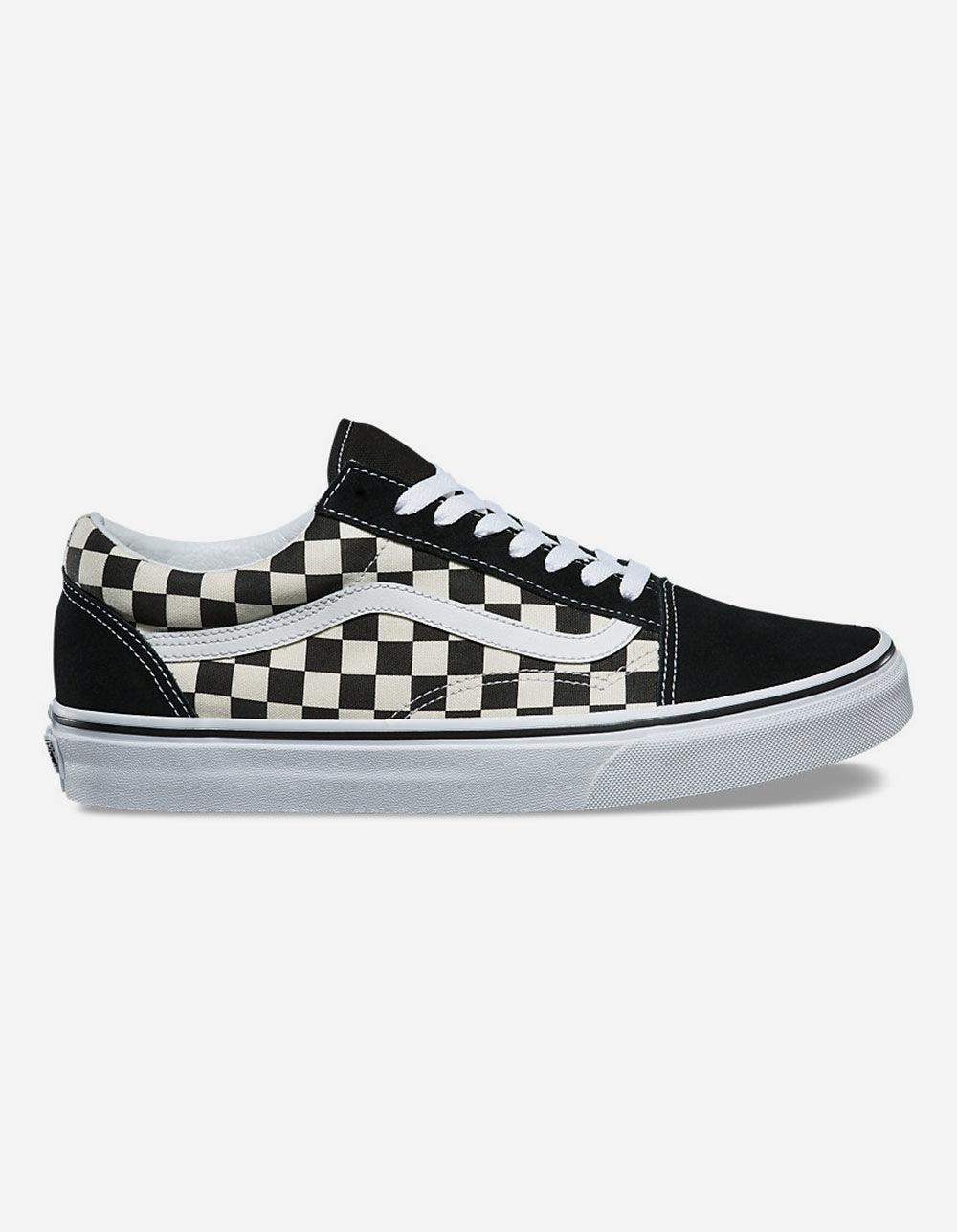 0364e54d3a4 Lyst - Vans Primary Check Old Skool Black   White Shoes in Black for ...
