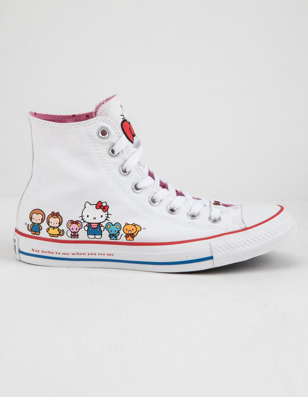 Converse. X Hello Kitty Chuck Taylor All Star White   Prism Pink High Top  Womens Shoes 0f3da1baa