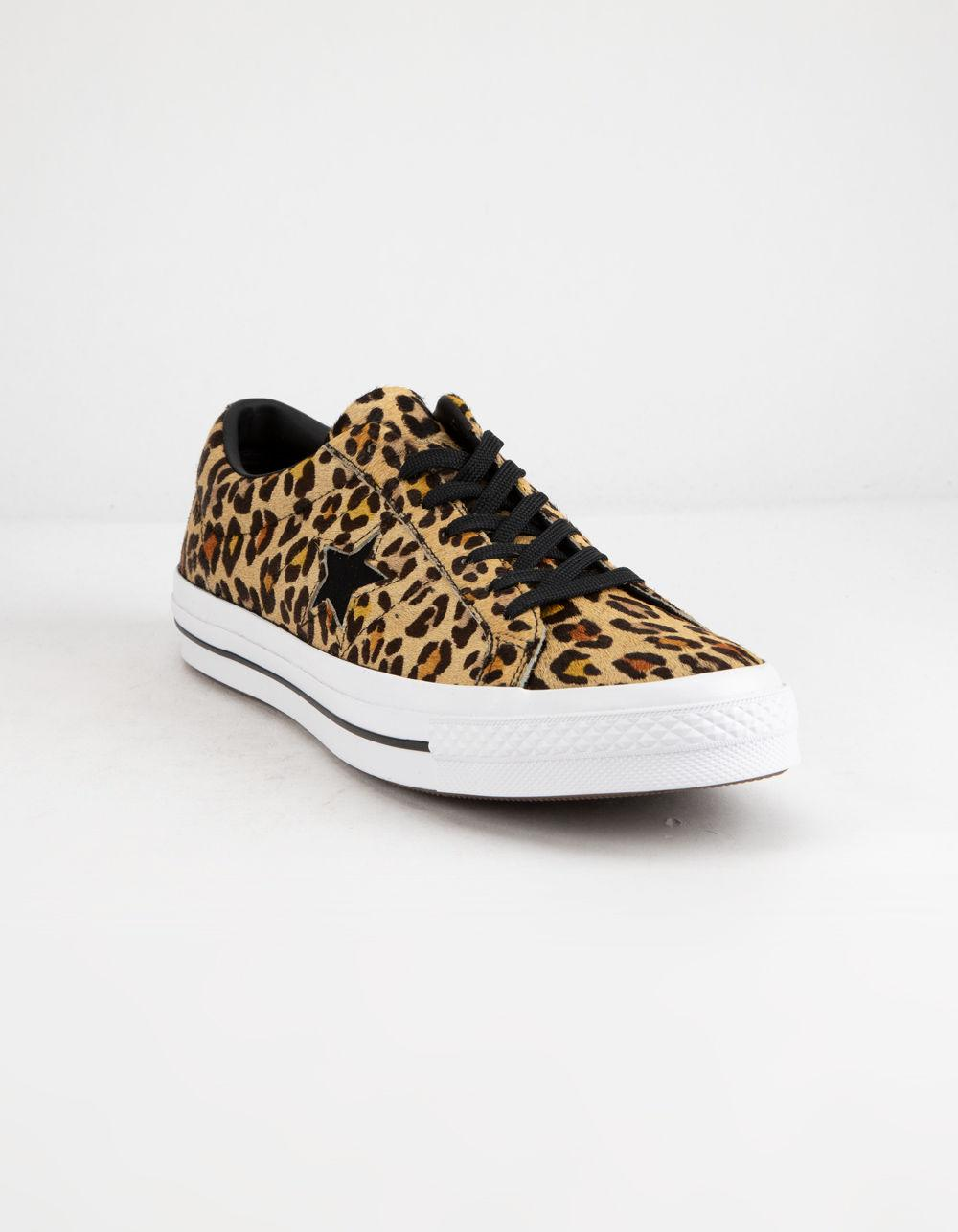 buy online 9bfe2 10cbd Converse One Star Ox Leopard Shoes - Lyst