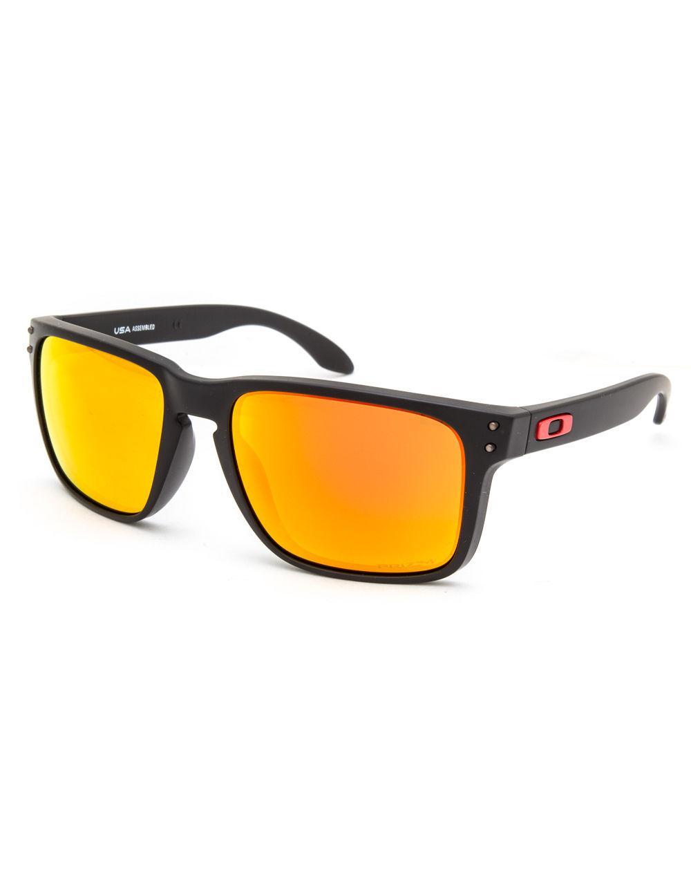c920975989f0 ... low price lyst oakley holbrook xl matte black prizm ruby sunglasses in  b1ec2 bdaa1