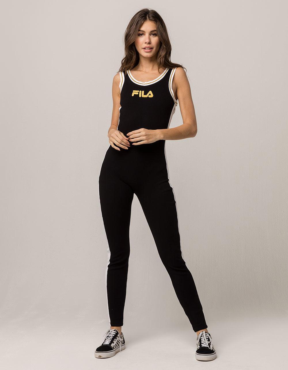 053ecf45959 Lyst - Fila Ivory Unitard Womens Jumpsuit in Black