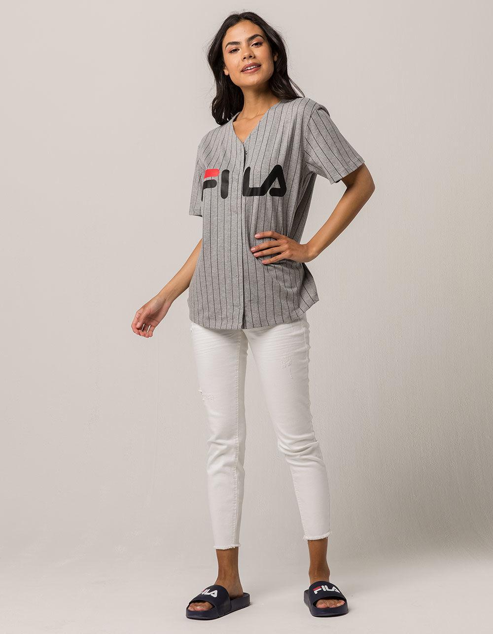 e687148c5008 Lyst - Fila Lacey Womens Baseball Jersey in Gray