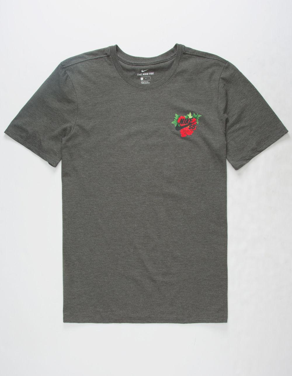 31e23a2cc96f Lyst - Nike Colorful Hibiscus Mens T-shirt in Gray for Men