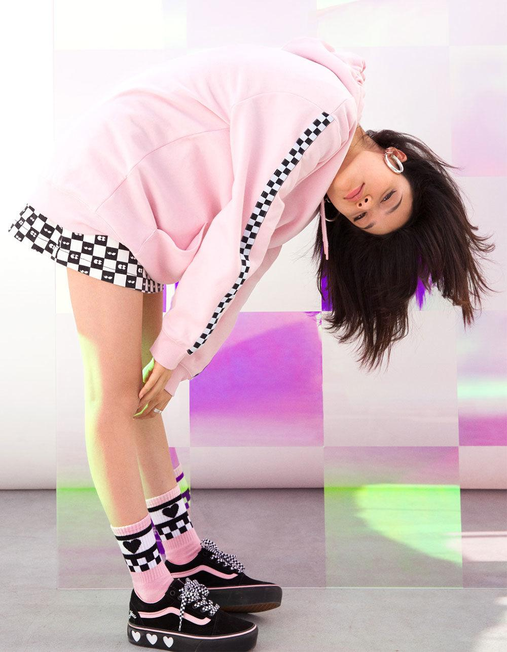 dbdb3a865ba1a1 Lyst - Vans X Lazy Oaf Almond Blossom Womens Socks in Pink