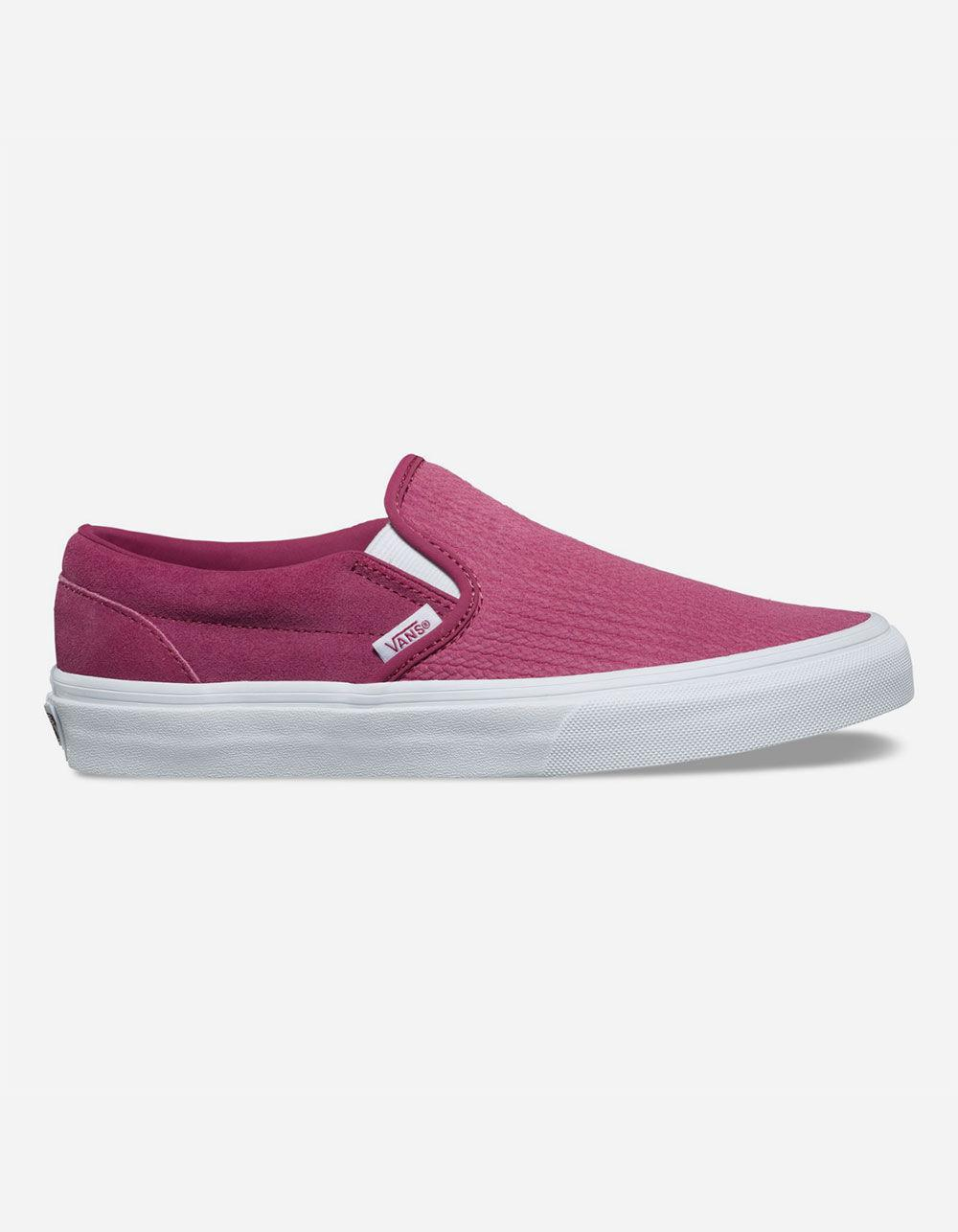 0197542c97 Vans - Purple Suede Canvas Classic Slip-on Wine Womens Shoes - Lyst. View  fullscreen