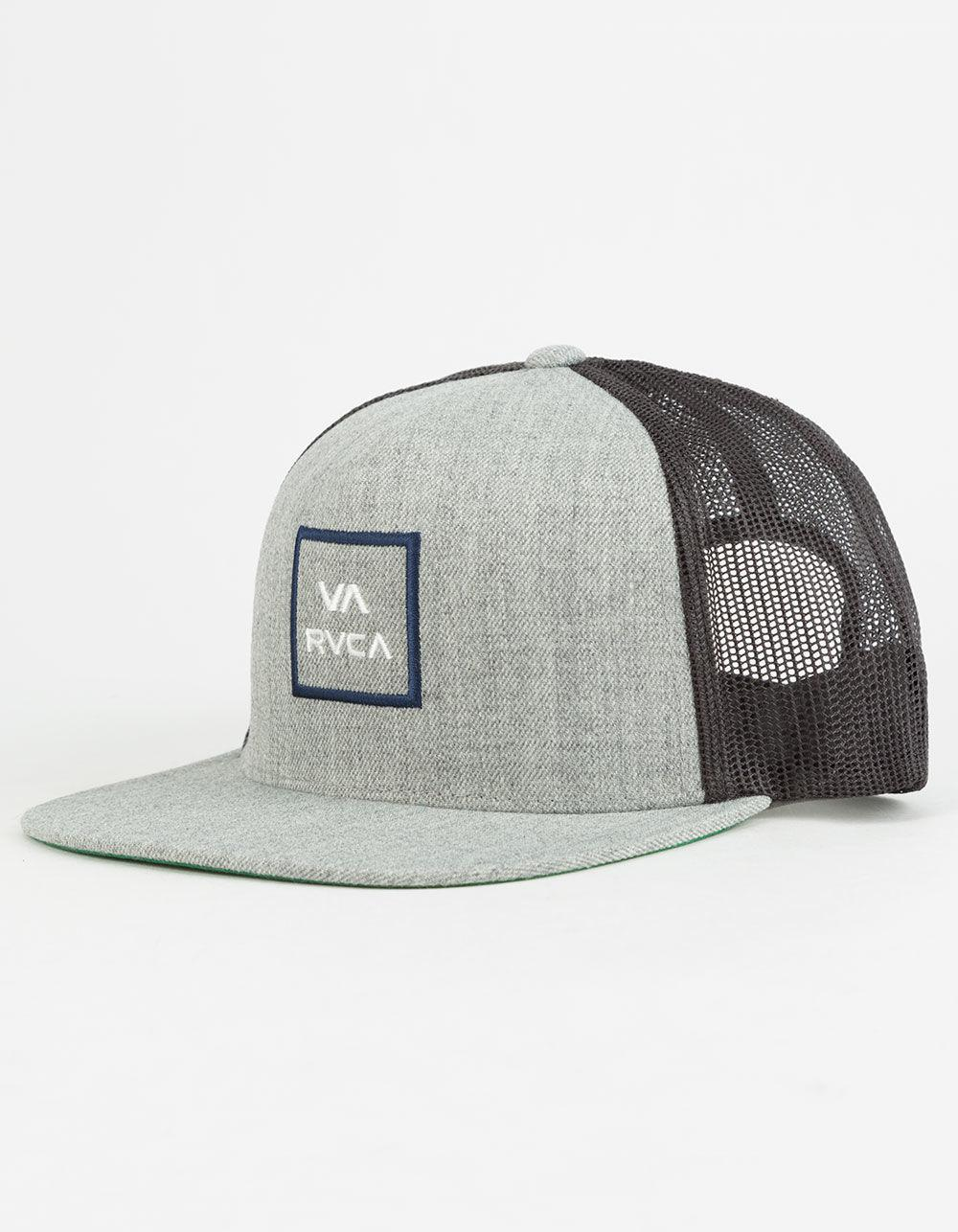 buy popular 96333 10415 ... get lyst rvca all the way heather grey mens trucker hat in gray for men  a0974