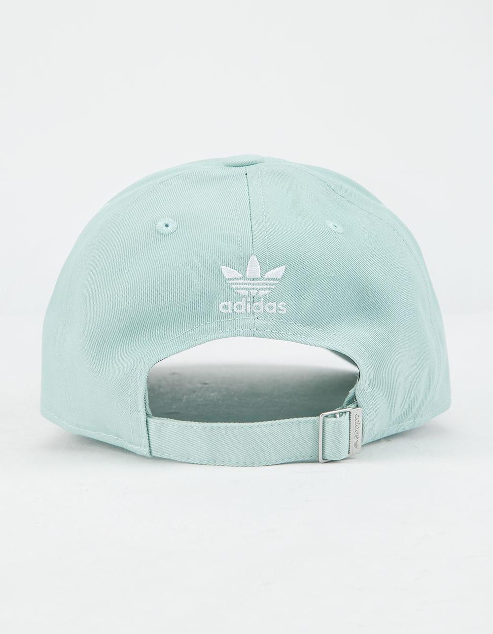 911902e2a85 Lyst - adidas Originals Relaxed Outline Ash Green Womens Strapback Hat in  Green - Save 53%