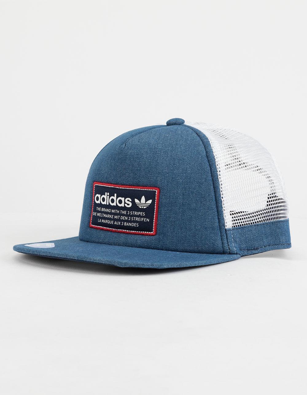 5ab28126863 Lyst - adidas Originals Patch Mens Trucker Hat in Blue for Men