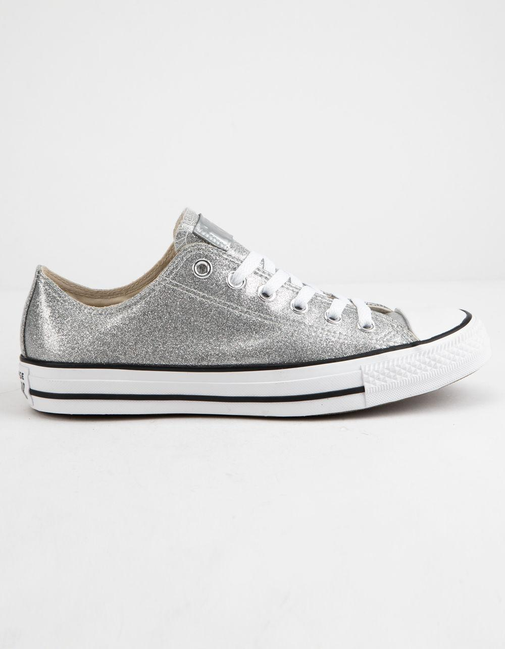 64b53df23a17 Converse. Chuck Taylor All Star Wonderworld Ox Silver   White Low Top ...