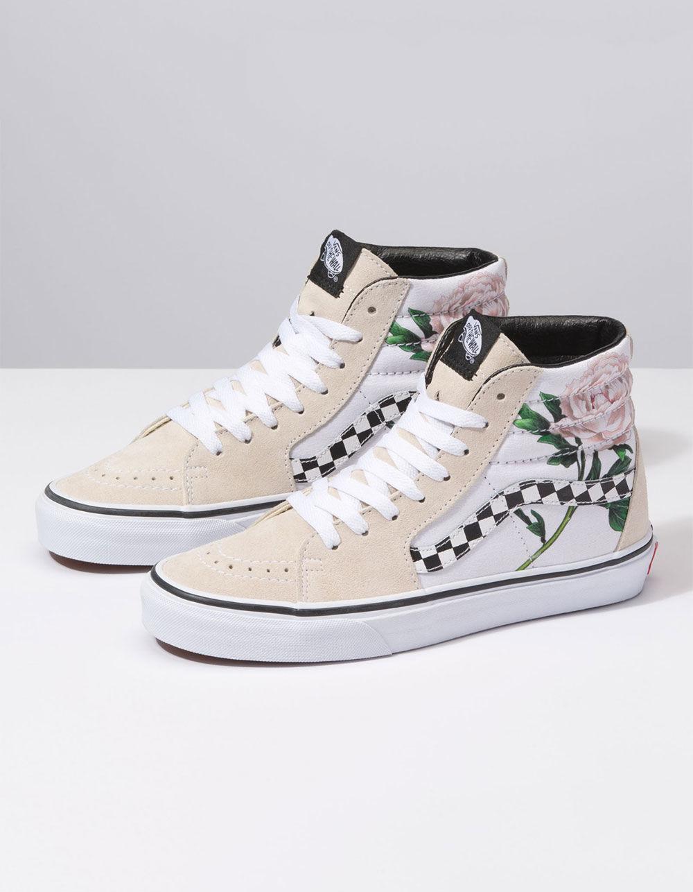 b744ae86896 Lyst - Vans Sk8-hi Checker Floral Womens Shoes