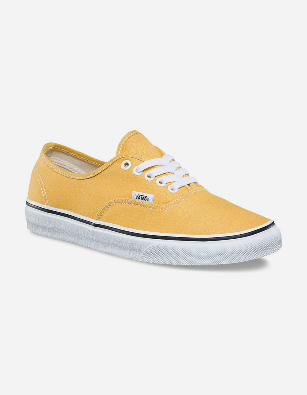 899aa588ea4 Lyst - Vans Authentic Ochre   True White Womens Shoes in White
