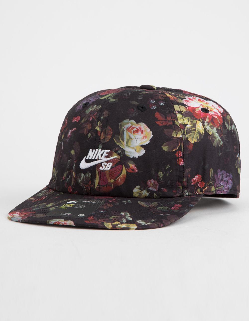 3069b033 ... snapback cap black floral gold d0209 b8171; canada nike. mens black dri  fit heritage 86 floral strapback hat de1de ddb44