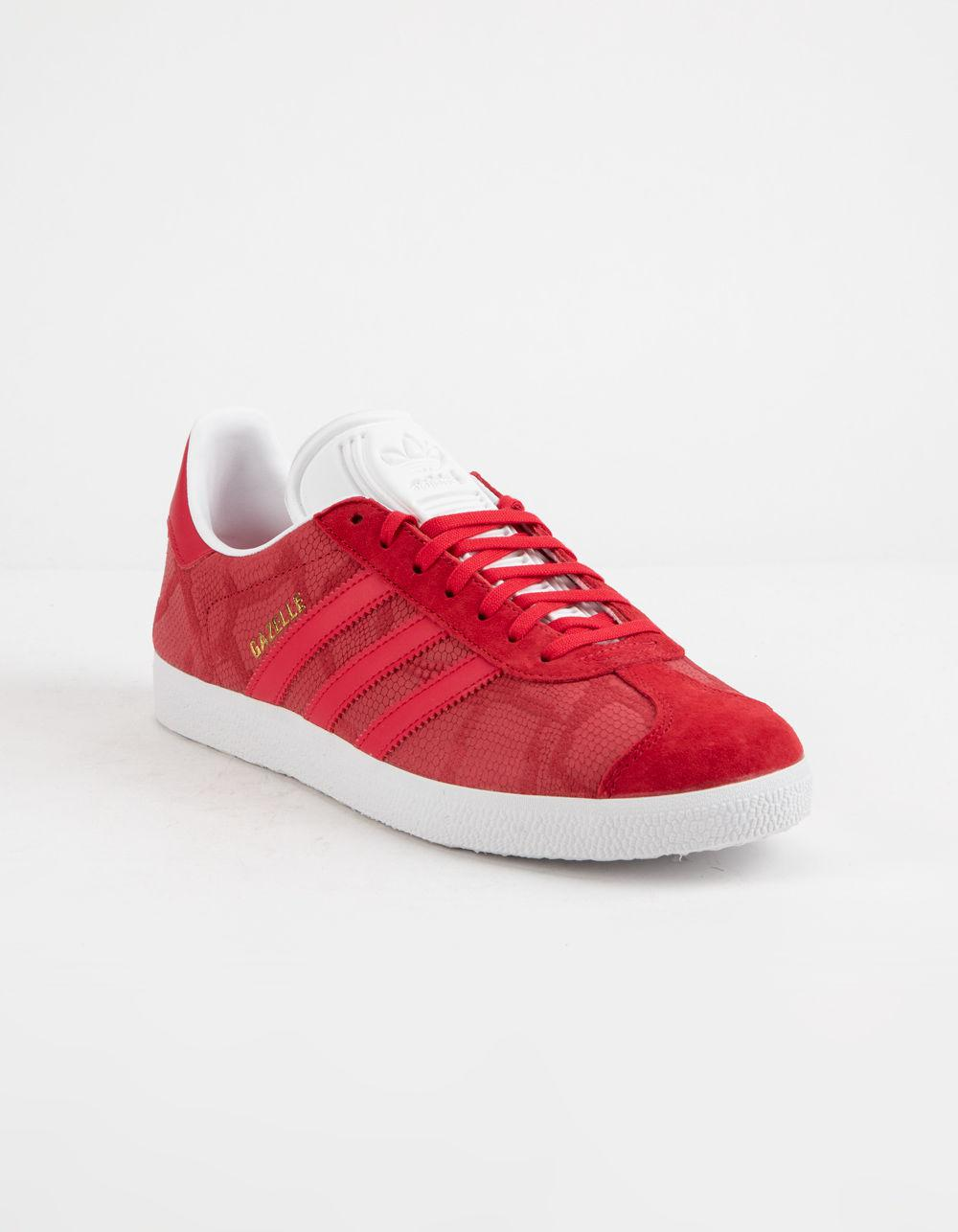 9af9b3811ca3 Lyst - adidas Gazelle Bold Red Womens Shoes in Red