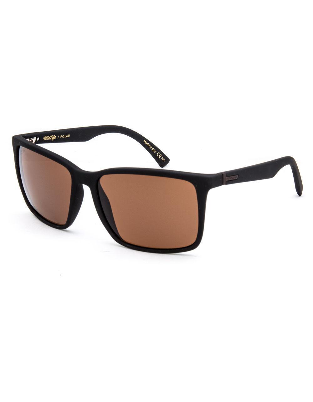 f8cd44542f1 Von Zipper. Men s Lesmore Wildlife Black Soft Satin   Bronze Polarized  Sunglasses