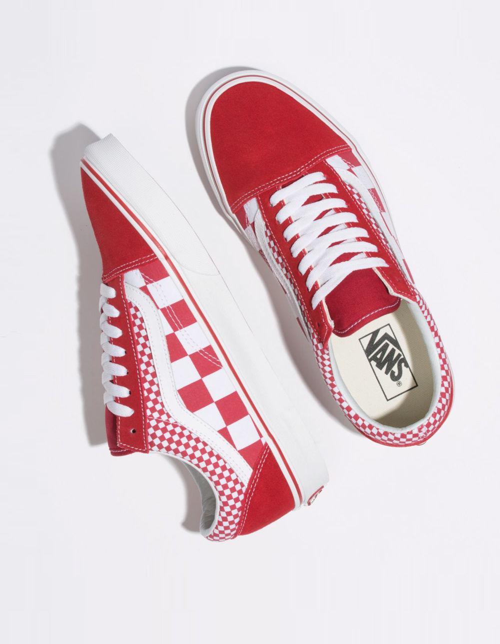45eb96fd3a5 Vans - Red Mix Checker Old Skool Chili Pepper   True White Shoes - Lyst.  View fullscreen