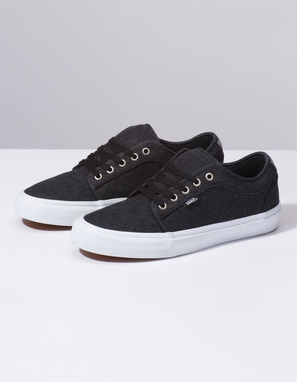 1aec8b6416b9c9 Lyst - Vans Denim Chukka Low Black   Pewter Shoes in Black for Men