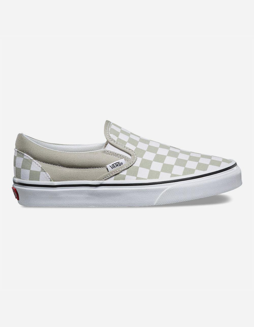 72df937403a5 Lyst - Vans Checkerboard Classic Slip-on Desert Sage Womens Shoes