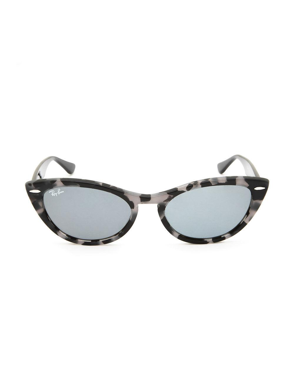 426cbcf863c Lyst - Ray-Ban Nina Gray Havana   Black Sunglasses in Black