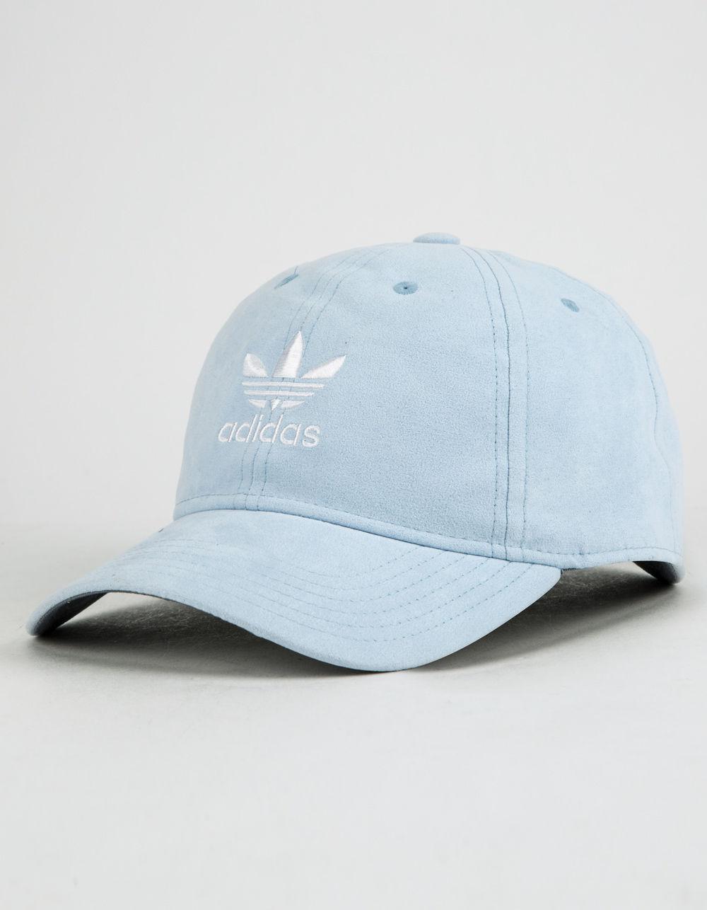6c694336453 Lyst - adidas Originals Relaxed Plus Light Blue Womens Strapback Hat ...
