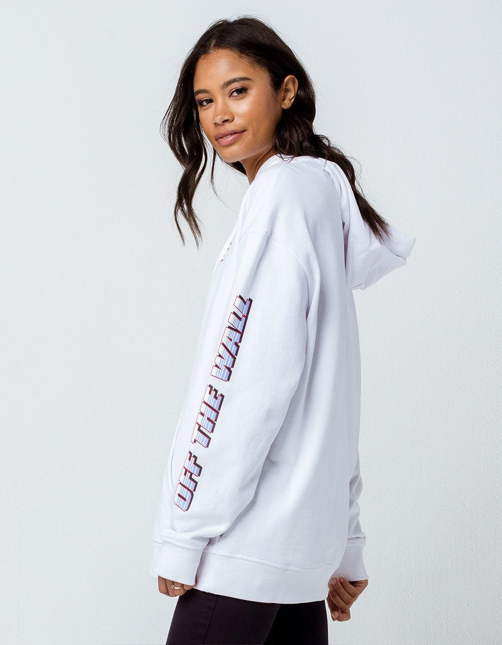 8e1faeab69d060 Lyst - Vans Pilot White Womens Oversized Hoodie in White - Save 37%