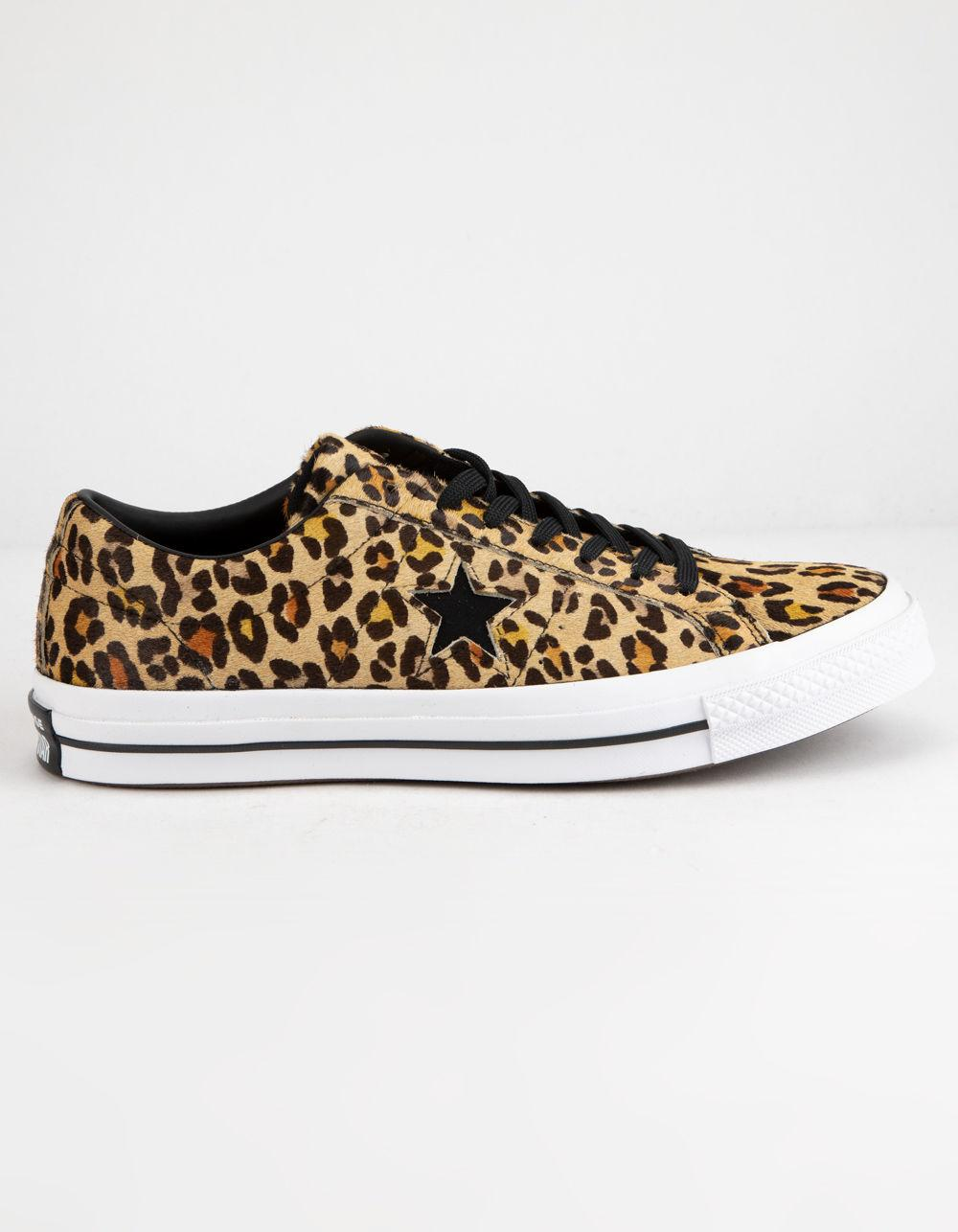 dba79ed81ebb Lyst - Converse One Star Ox Leopard Shoes