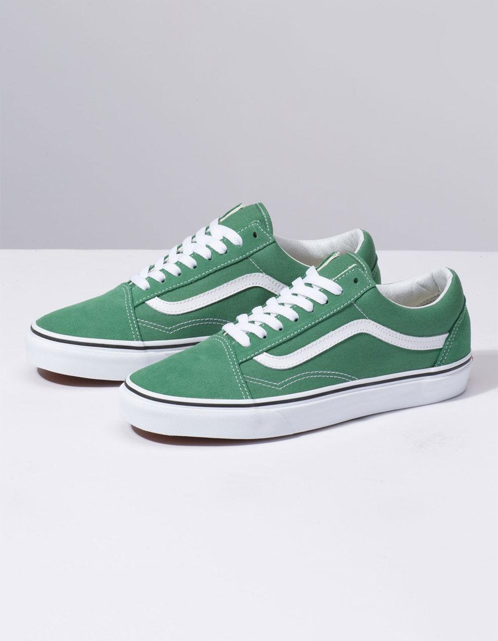 b94a1b6cbeb4 Lyst - Vans Old Skool Deep Grass Green   True White Shoes in Green