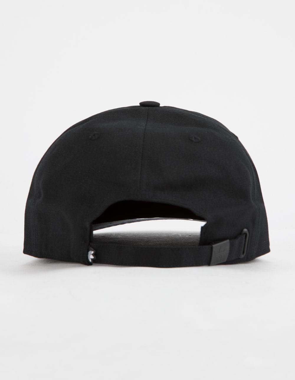 87796d7c481 Lyst - adidas Originals Relaxed Base Black Strapback Hat in Black ...