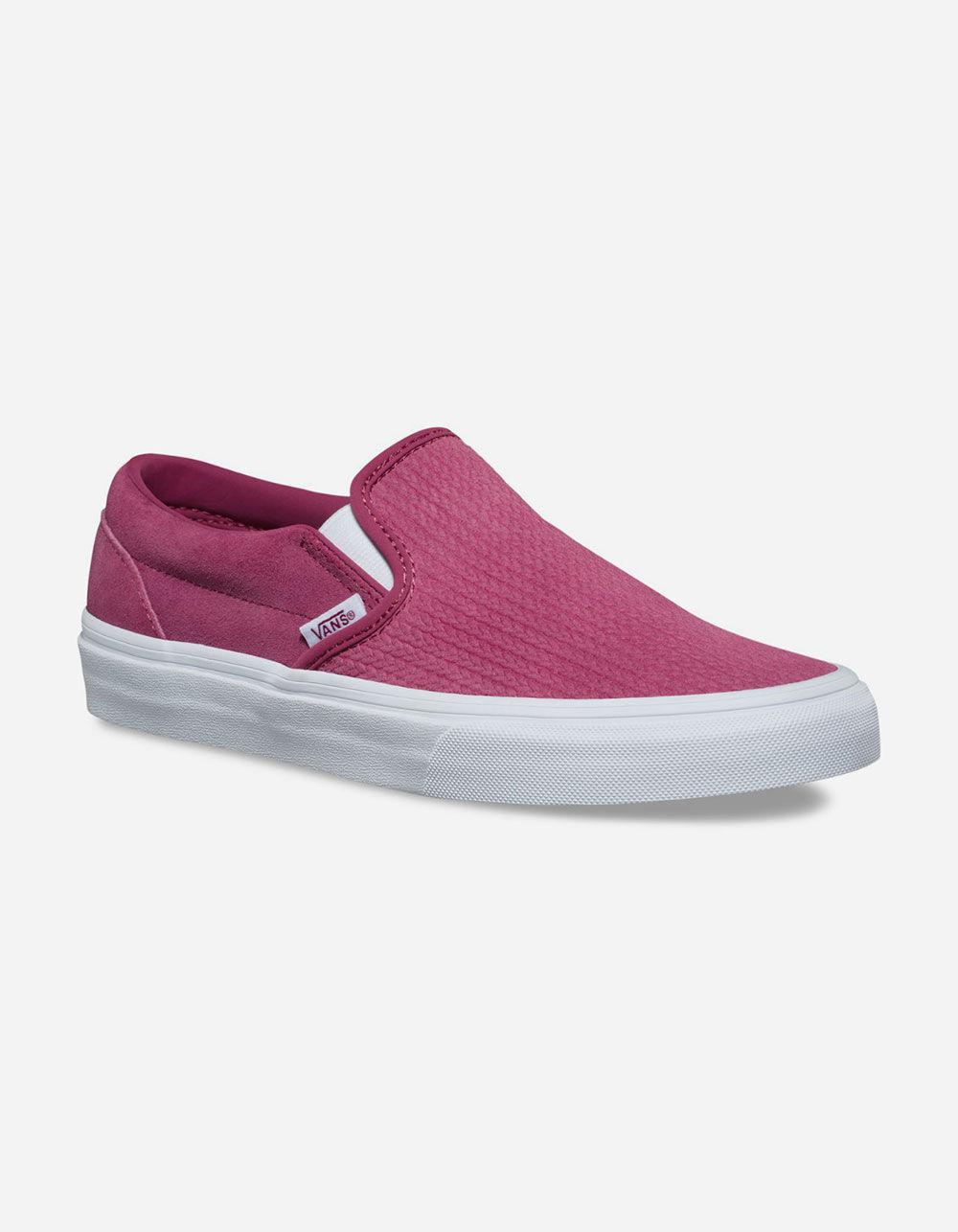 6f0c8d14a5 Lyst - Vans Suede Canvas Classic Slip-on Wine Womens Shoes in Purple