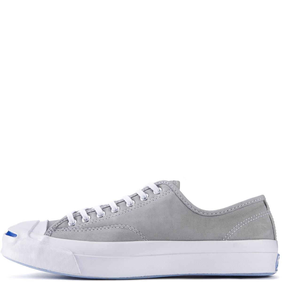 2b4d69258e1407 Lyst - Converse Jack Purcell Signature Nubuck Dolphin White Sneakers ...