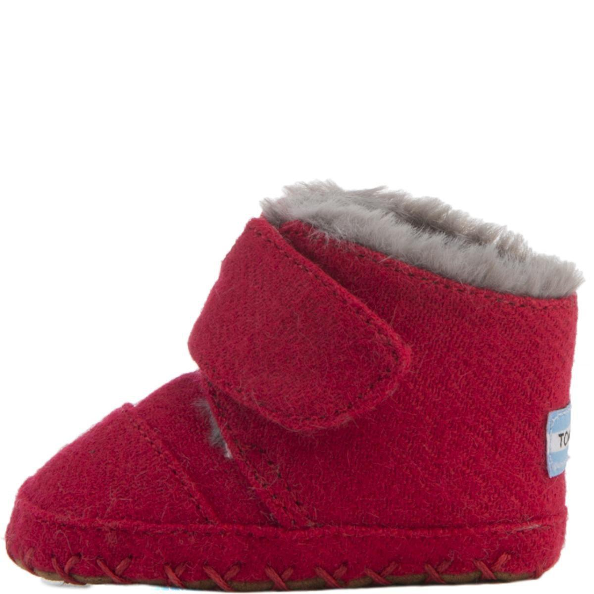 031e9032d22 Lyst - TOMS Tiny   Cuna Crib Shoes Red Felt in Red