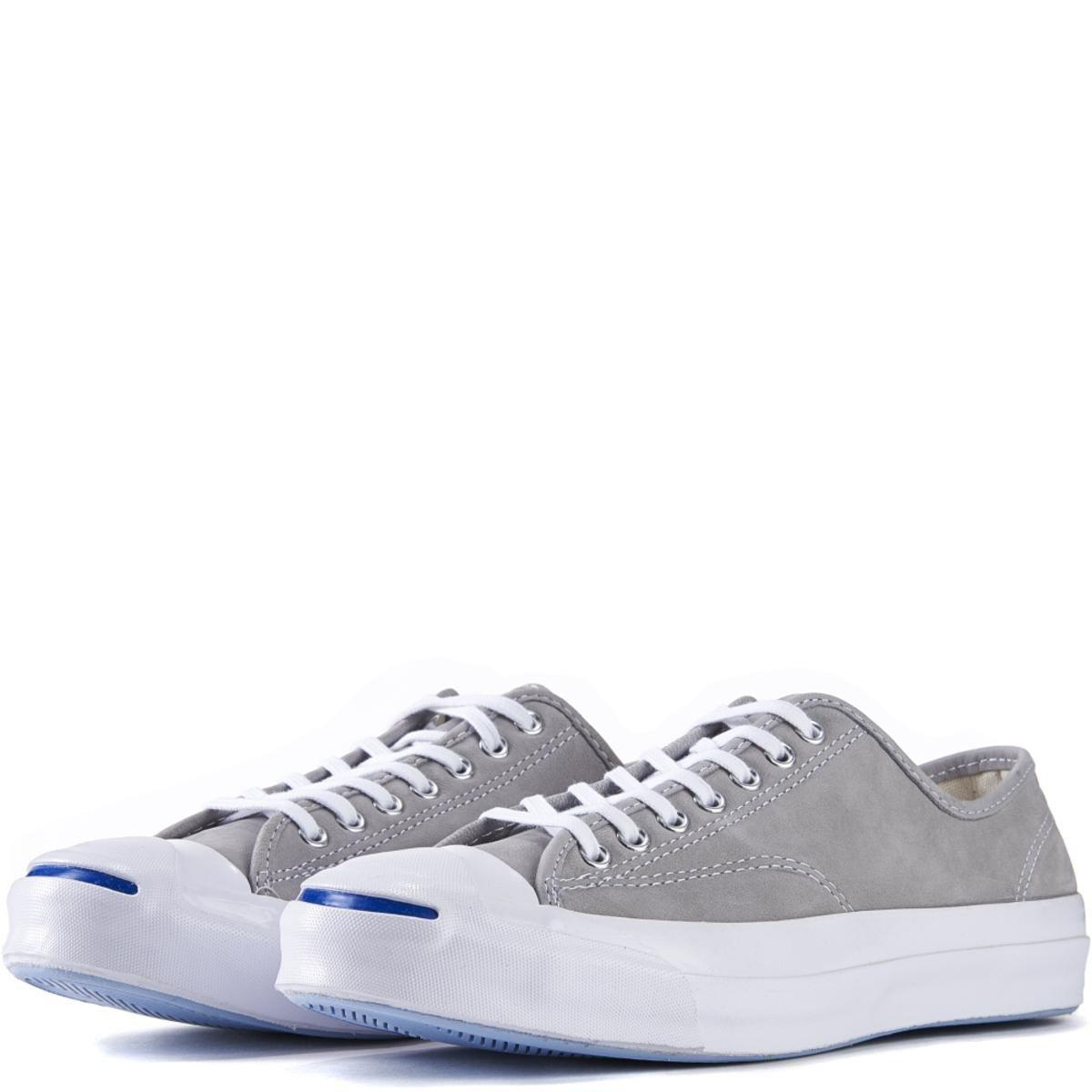 05114e61aeca39 Converse - Jack Purcell Signature Nubuck Dolphin White Sneakers for Men -  Lyst. View fullscreen