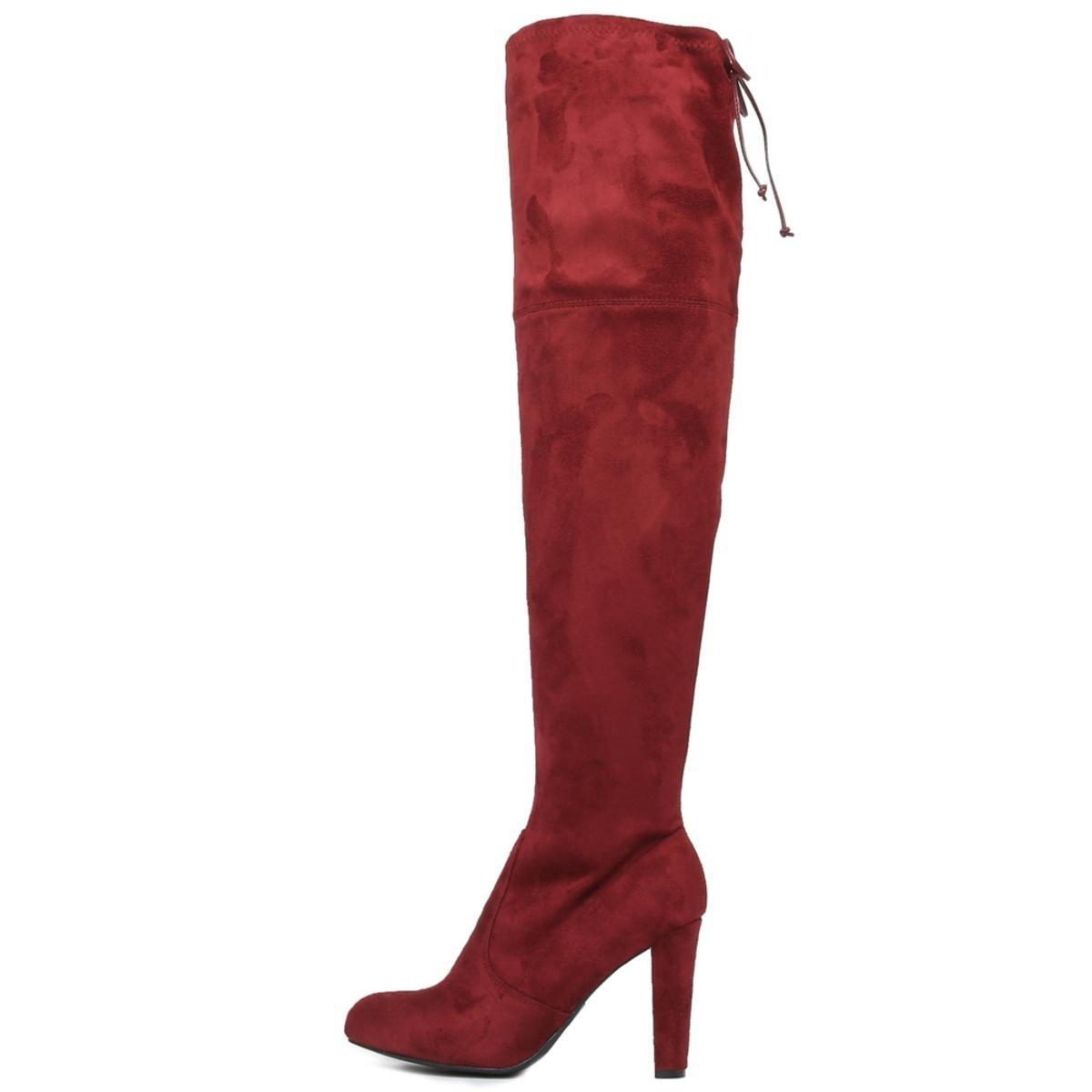 eea2ab0f3b61 Lyst - Wild Diva Amaya-01 High Heel Boot in Red