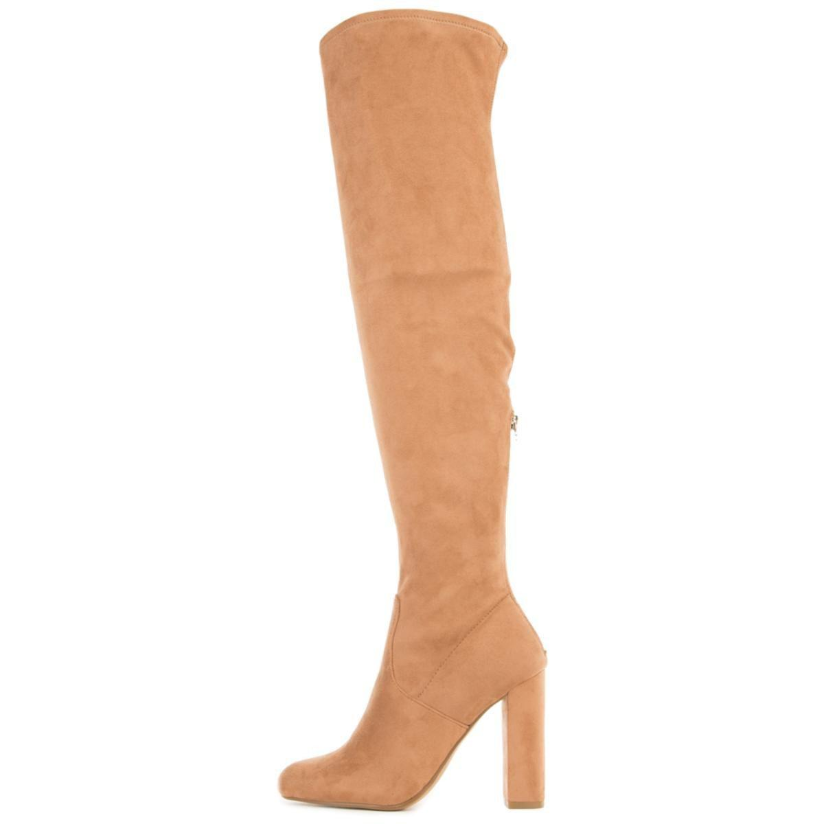 Steve Madden. Women's Natural Emotions Camel Thigh High Heeled Boots