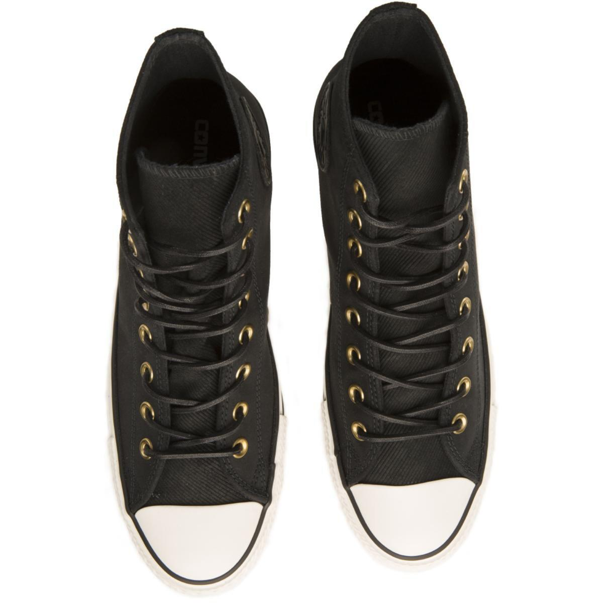 7658e9616e0 Converse - Chuck Taylor All Star Crafted Black Suede High Tops for Men -  Lyst. View fullscreen